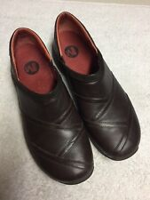 Merrell Women's Brown Leather Slip On Casual Shoes Size Sz 11 Medium Med M