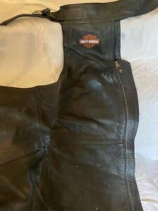 Harley Davidson Leather Chaps Size XL