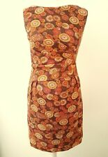 BLANES MADE IN ENGLAND vintage 60's shift DRESS WOVEN WITH GOLD THREAD FITS 8 36