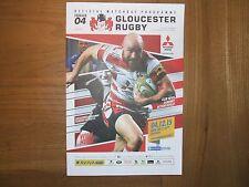 Gloucester vs Sale match day program, 4th 12th 2015 Gloucester 23 Sale 19
