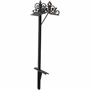 Liberty Garden 648-KD Outdoor Decorative Cast Iron Hose Holder Stand, Black