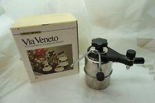VIA VENETO ESPRESSO MAKER STOVETOP CAPPUCCINO COFFEE MACHINE FROTHER ITALY d