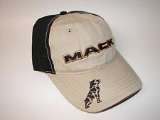 NEW Mack Truck Bulldog Logo Truckers Ball Baseball Cap Hat Adjustable Black/Tan