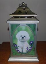 Danbury Mint Bichon Frise Lantern Artwork by Michele Amatrula Tealight