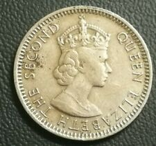 (RM) Malaya British Borneo Queen Elizabeth coin 10 cents 1961 VF Lot 6