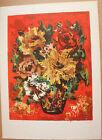 D'ANTY Henri - Lithographie signée numérotée bouquet de fleurs *