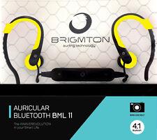 Auriculares Deportivos Brigmton BML-11 Correr Fitness Running Gym Amarillo