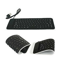 Portable USB Mini Flexible Silicone Keyboard Foldable for Laptop Notebook Black