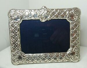 ANTIQUE STERLING SILVER PHOTOGRAPH MANTLE FRAME - RBB