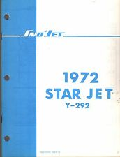 1972 SNO-JET SNOWMOBILE STAR JET HIRTH 292 CC PARTS MANUAL 35 PAGES NICE  (464)