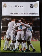 REAL MADRID v REAL SOCIEDAD PROGRAMME 10.2.2018 POSTER Cristiano Ronaldo
