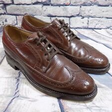 Florsheim Men's Size 8 D Dress Shoes Leather Wingtip Brown