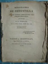 NESTLER : MONOGRAPHIA DE POTENTILLA, 1816. 12 planches herbier.