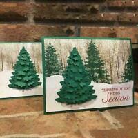 Christmas Tree Metal Cutting Dies DIY Craft Stencil G0Q1 Card Decor Paper R7U5