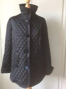 Black quilted jacket JONES NEW YORK NEW L  UK 14 16 High Quality Stylish Smart