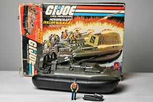 Vintage GI JOE - VEHICLE -1984 WHALE W/ Cutter 100% COMPLETE - HASBRO