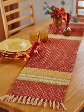 April Cornell Table Runner Blue Ridge Collection NWT 100% Cotton Autumn Colors
