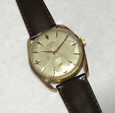 Enicar Ultrasonic Champagne Dial Gold Plated St.Steel 17 Jewels Swiss Watch