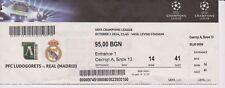 Ludogoretz vs Real Madrid Ticket Stub 2014 Champions League FOOTBALL SOCCER