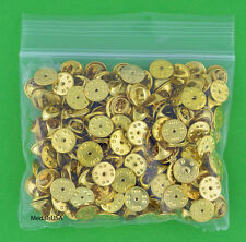 100 Military Style Butterfly Clutch Clasps -Lapel Hat Pin Tie Tack Backs gold