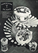 "PUBLICITE ADVERTISING 045  1963  PORCELAINE DE PARIS  "" les fruits sauvages"" 2"