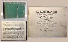 Boieldieu Die weisse Dame Plattennr 2413 um 1826 Noten Oper vollst Klavierauszug