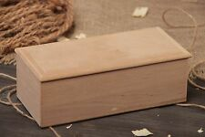 Rectangular Wooden Jewelry Box Handmade Craft Blank For Decoupage And Painting
