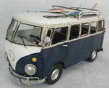 Tin Plate Model of a VW Blue Camper Van with Surf Boards /Ornament /Gift/Red