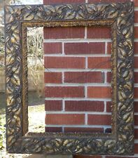 Aesthetic Movement Leaves & Berries Dark Gold Compo Frame 16 x 20 in. fit c1870s