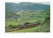 Postcard Festiniog Railway Porthmadog Loco Linda near Dduallt PM 1978   (A34)