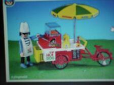 Playmobil 7781 Hotdog vendedor con puesto móvil * raros *... Marca Nueva En Bolsa Sellada
