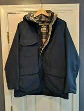 Vintage The Woolrich Woman Womens Large Plaid Wool Lined Hooded Parka Jacket