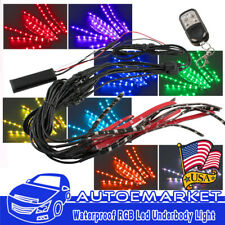 12X Motorcycle LED Neon Under Glow Lights Strip Kit For Harley Davidson 72LED US
