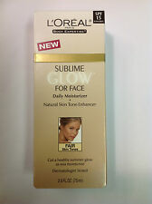 L'Oreal Sublime GLow Face Daily Moisturizer+Natural Skin Tone Enhancer FAIR 2.5