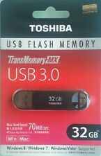 TOSHIBA USB 3.0 FLASH DRIVE SUZAKU 32GB BLACK TRANSMEMORY-MX 32G 32 G GB NEW