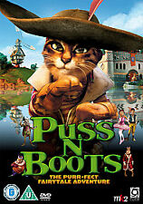 Puss N Boots THE PURR-FECT FAIRYTALE ADVENTURE  (DVD-2010, 1-Disc)