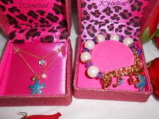 Betsey Johnson Sea Excursion Starfish Necklace & Bracelet Set NWT