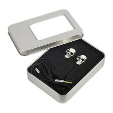 Cool Skull Heads 3.5mm Port Earphones Earbuds Headset For MP3 Phone iPads FT