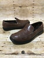 COLE HAAN Moccasin Shoes Mens Size 11 M Brown Casual Leather Slip On Loafers