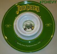 2010-NEW OLD STOCK JOHN DEERE MELAMINE CHIP & DIP TRAY  NICE ITEM / COLLECTIBLE
