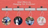 PERSONALISED PHOTO ON ROUND CAR/OFFICE/STUDY AIR FRESHENER  VANILLA YLANG
