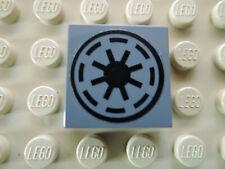 Lego 1 x Fliese 3068bpb0167 neu dunkelgrau 2x2  Sticker SW Repunblic 7675