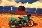 Harley Davidson Motorcycle Knucklehead Southwest Route 66 Sturgis Art Print