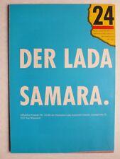 Prospekt Lada Samara 1100, 1300, 1500, 2/6.1988, 16 Seiten, folder