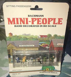 Vintage Bachman HO-Scale Mini-People Sitting Passengers #3312 NIP