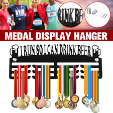 5mm Thick Acrylic I Run So I Can Drink Beer Medal Hanger Holder Rack Display