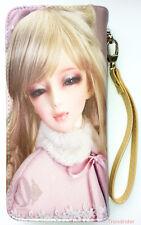 Canvas Print Anime Girl Barbie Dollfie Doll Full Size Zip Around Wallet Wrislet
