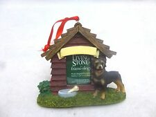 Encore Living Stone Frame-ology Photo Dog House Magnet Ornament Rottweiler