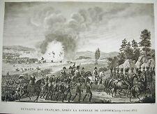 Bataille de Leipzig retraite des français Napoléon Bonaparte 1815 Couché Pigeot