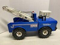 Vintage Tonka Blue Mighty Wrecker Truck  XMB-975 Pressed Steel